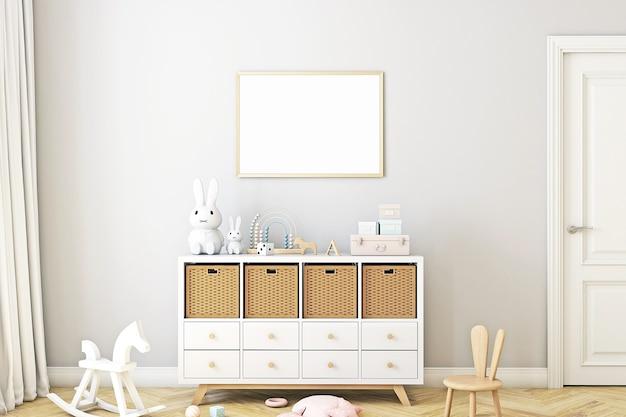 Maquette de cadre pour enfants dans le style boho 5701