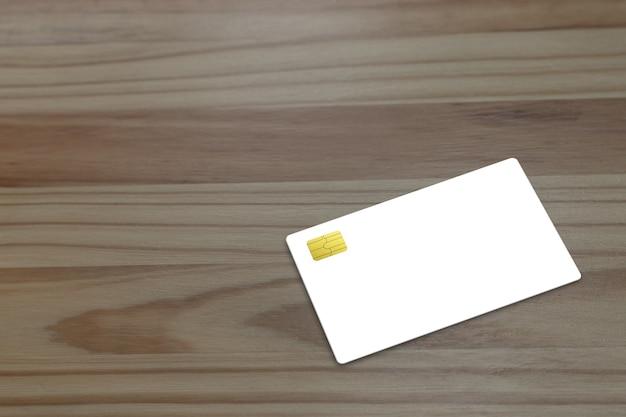 Maquette de carte de crédit sur la table.