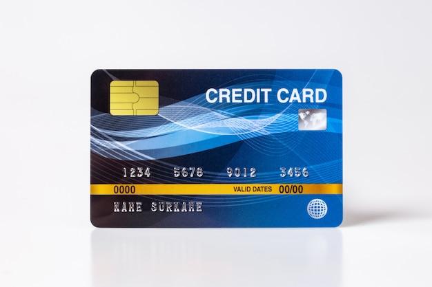 Maquette de cartes de crédit sur fond blanc.