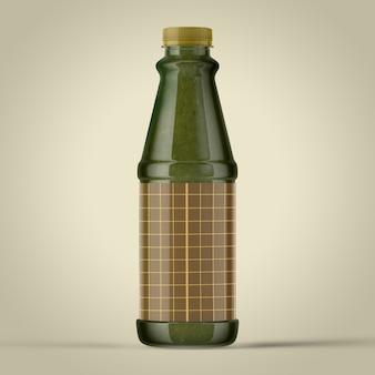 Maquette colorée de bouteilles sur fond simple. bouteille en plastique ketchup simple