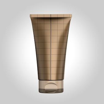 Maquette colorée de tube de crème. tube de cosmétiques. tube pour crèmes et liquides de maquillage.