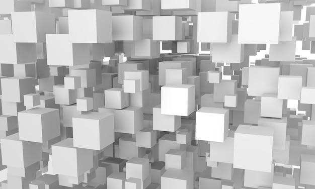 Maquette de composition de cubes vides. rendu 3d