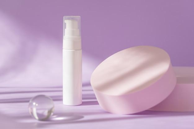 Maquette cosmétique de soin de beauté