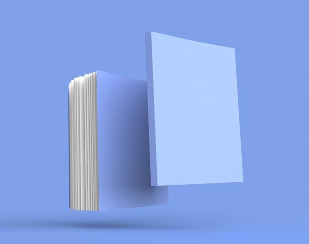 Maquette de couleur de l'album de livre illustration de rendu 3d fermé bloc-notes clair avec une lumière et une ombre réalistes