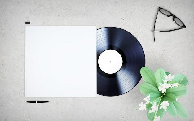 Maquette de couverture en vinyle