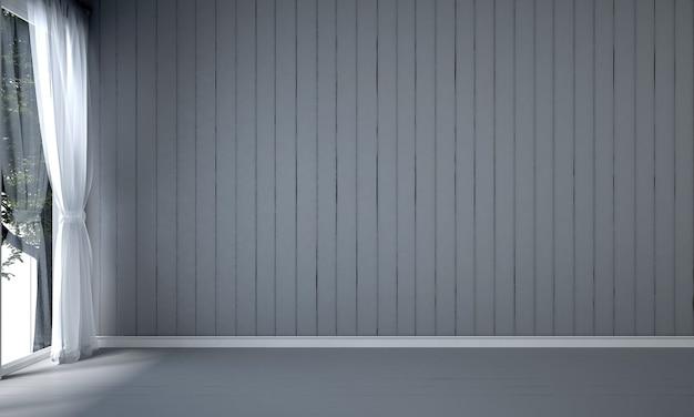 La maquette de décoration de design d'intérieur de salon moderne et vide et fond de mur de modèle noir