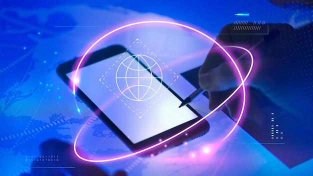 Maquette d'écran de téléphone portable vierge