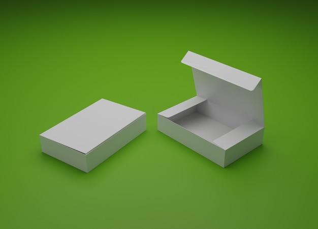 Maquette d'emballage de boîtes illustration 3d
