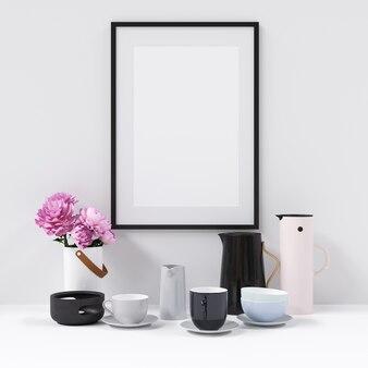 Maquette frame avec des décorations intérieures