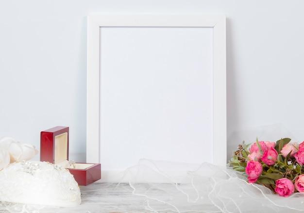 Maquette frame pour anniversaire de mariage ou de célébration