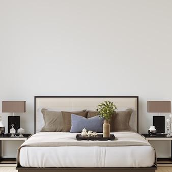 Maquette de galerie de mur de chambre à coucher intérieure