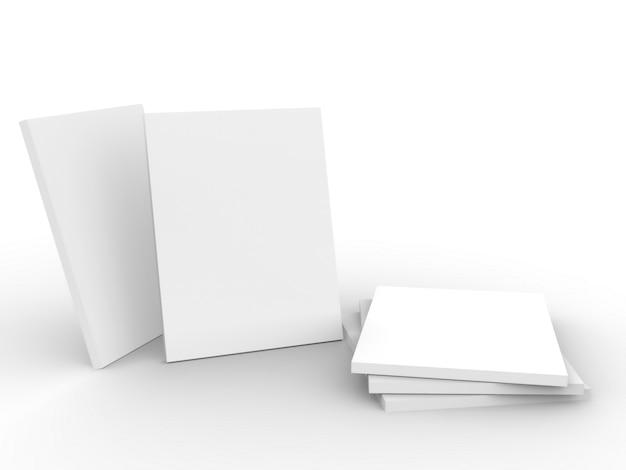 Maquette de magazine sur fond blanc