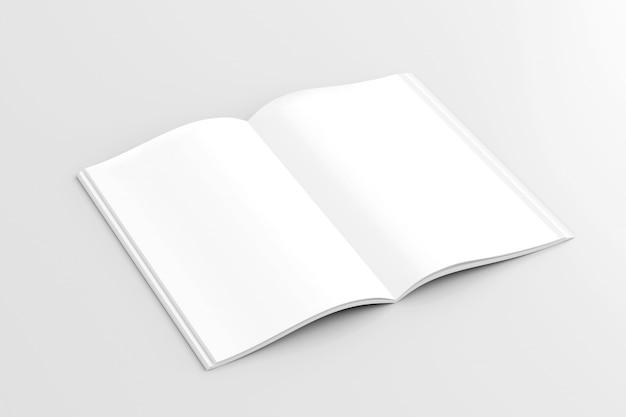 Maquette d'un magazine ouvert - rendu 3d