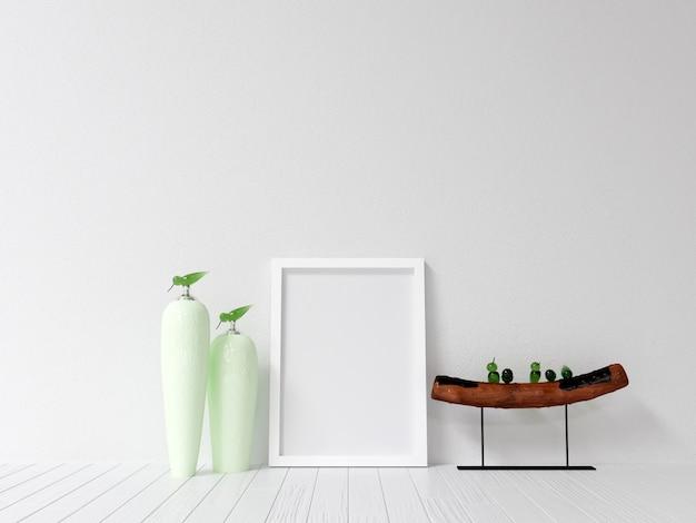 Maquette maquette affiche avec décoration intérieure