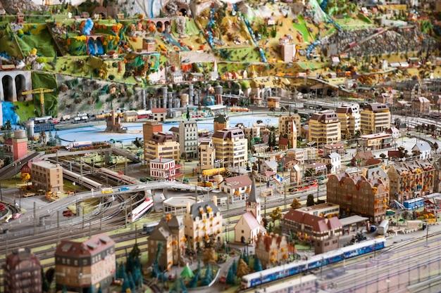 Maquette miniature d'une ville moderne