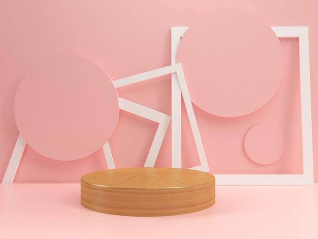 Maquette de modèle podium pastel été style minimal