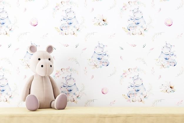 Maquette de mur blanc bébé 5741