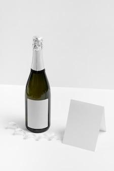 Maquette de nouvel an avec carte vide