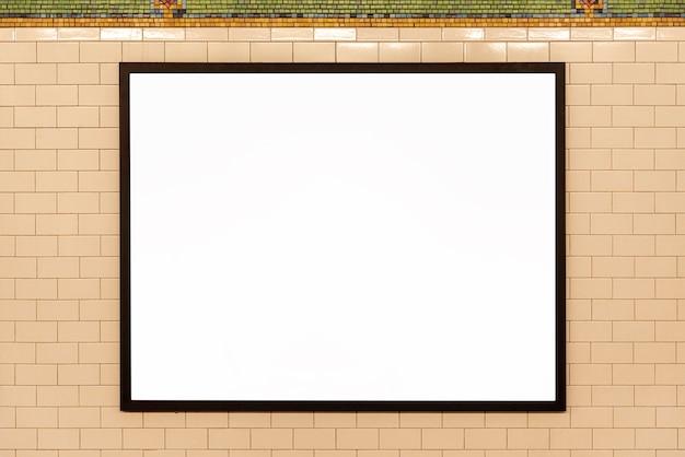Maquette panneau d'affichage sur un mur