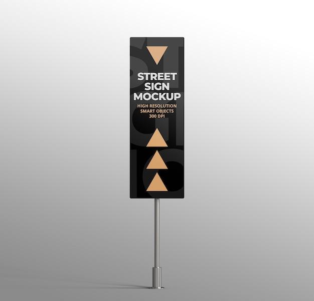 Maquette de panneau de signalisation 3d isolé pour la publicité ou la marque