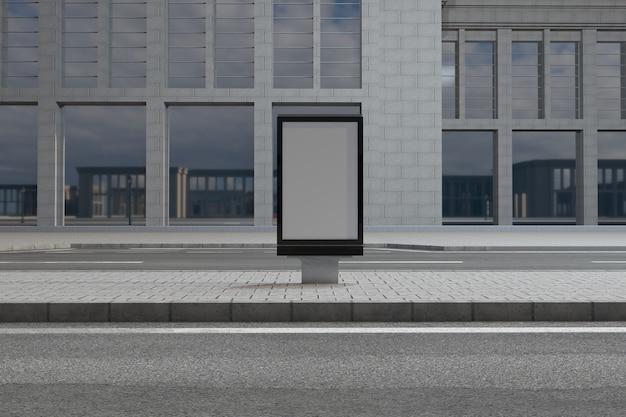 Maquette de panneau de signalisation mufi