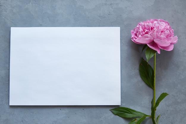Maquette. papier blanc vierge pour le texte.
