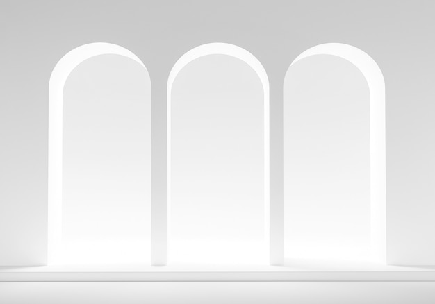 Maquette podium sur blanc