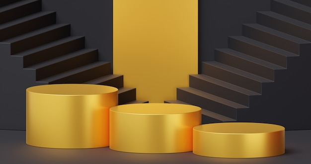 Maquette de podium pour la présentation du produit concept minimal abstrait