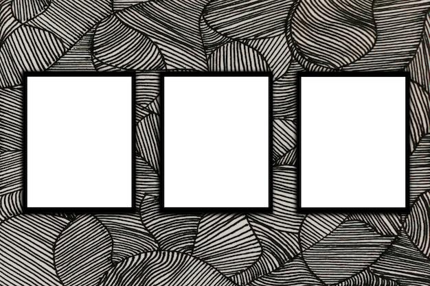 Maquette de poster et dessins d'arrière-plan graphiques muraux style moderne.