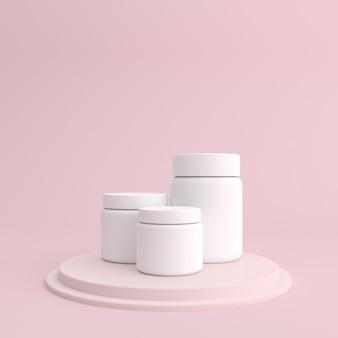 Maquette de récipient de crème cosmétique blanche