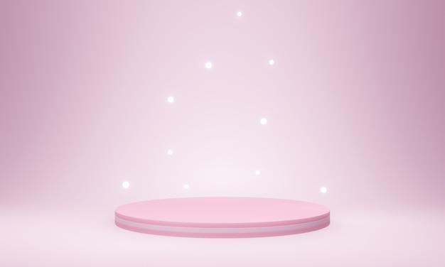 Maquette de scène rose en rendu 3d