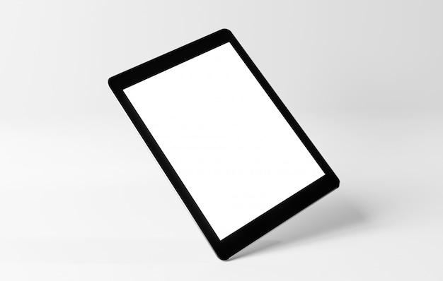 Maquette d'un smartphone isolé sur un fond avec ombre - rendu 3d