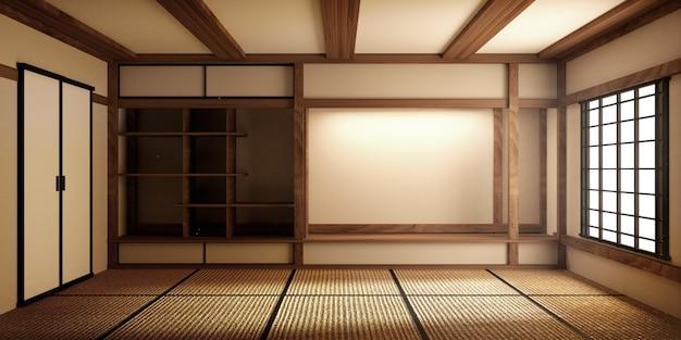 Maquette, tatami japonais de pièce vide de pièce concevant le plus beau. rendu 3d