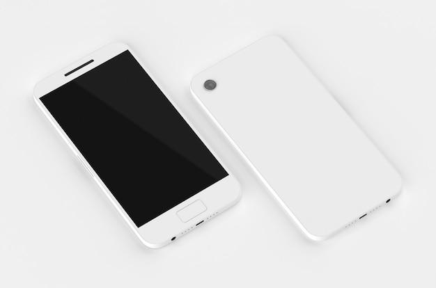 Maquette de téléphone téléphone portable rendu 3d smartphone produit isométrique modèle de périphérique modèle de gadget technologique