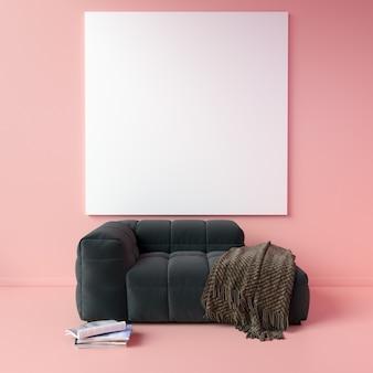 Maquette de toile en monochrome rose