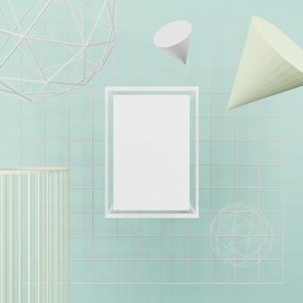 Maquette vierge, cadre d'affiche, cadre photo rendu 3d