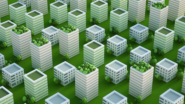 Maquette de la ville avec bâtiments résidentiels