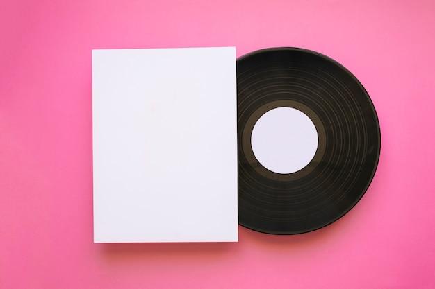 Maquette de vinyle rétro