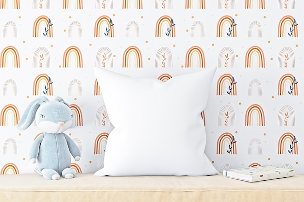 Maquettes d'oreillers pour enfants dans un style bohème