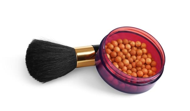 Maquillage cosmétique cheveux naturels brosse animale poudre rouge à lèvres maskara vernis à ongles doublure