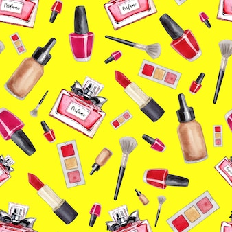 Maquillage modèle sans couture.