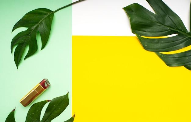 Maquillage printemps feuilles tropicales