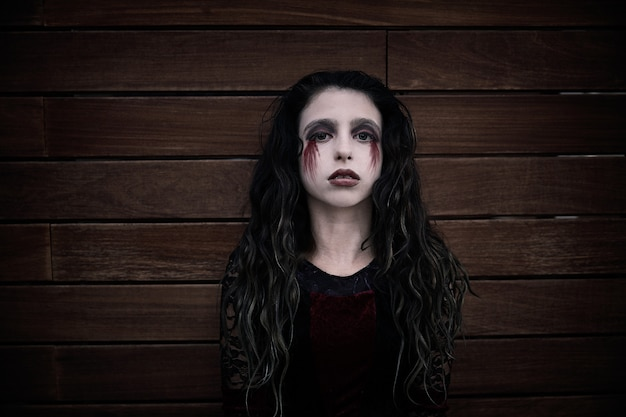 Maquillage sanglant halloween kid fille custome