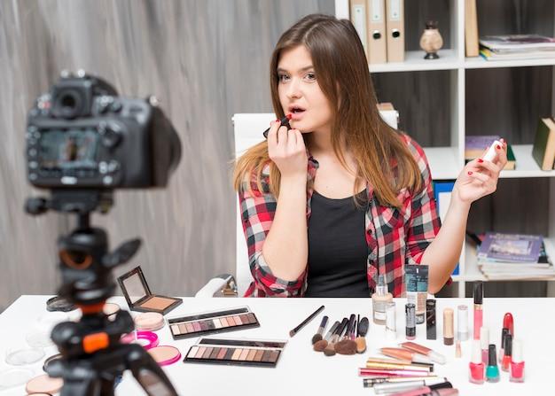 Maquillage vlogger
