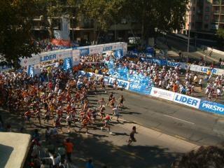 Marathon à santiago du chili.