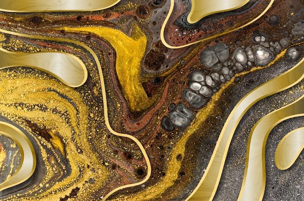 Marbre abstrait acrylique