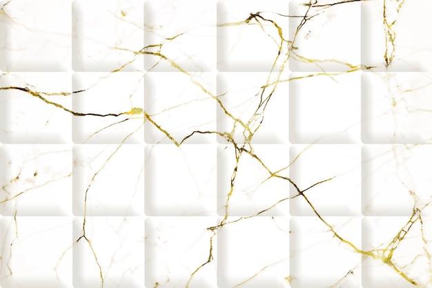 Marbre blanc avec fond de texture dorée