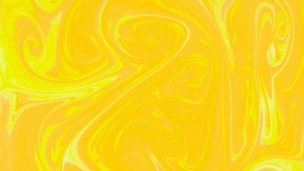 Marbre liquide abstrait jaune