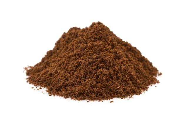 Marc de café isolé