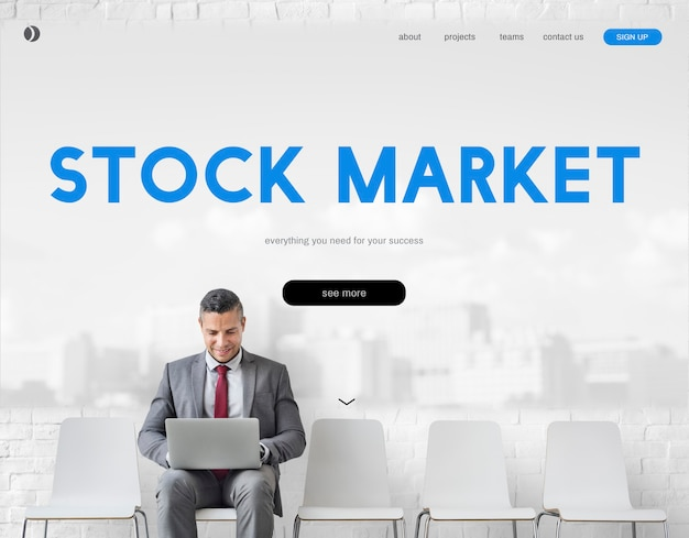 Marché boursier trade finance exchange concept forex